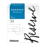 D'Addario, Reserve Bb Clar #2.5 10-Pack