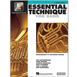 Essential Technique for Band - French Horn Book 3